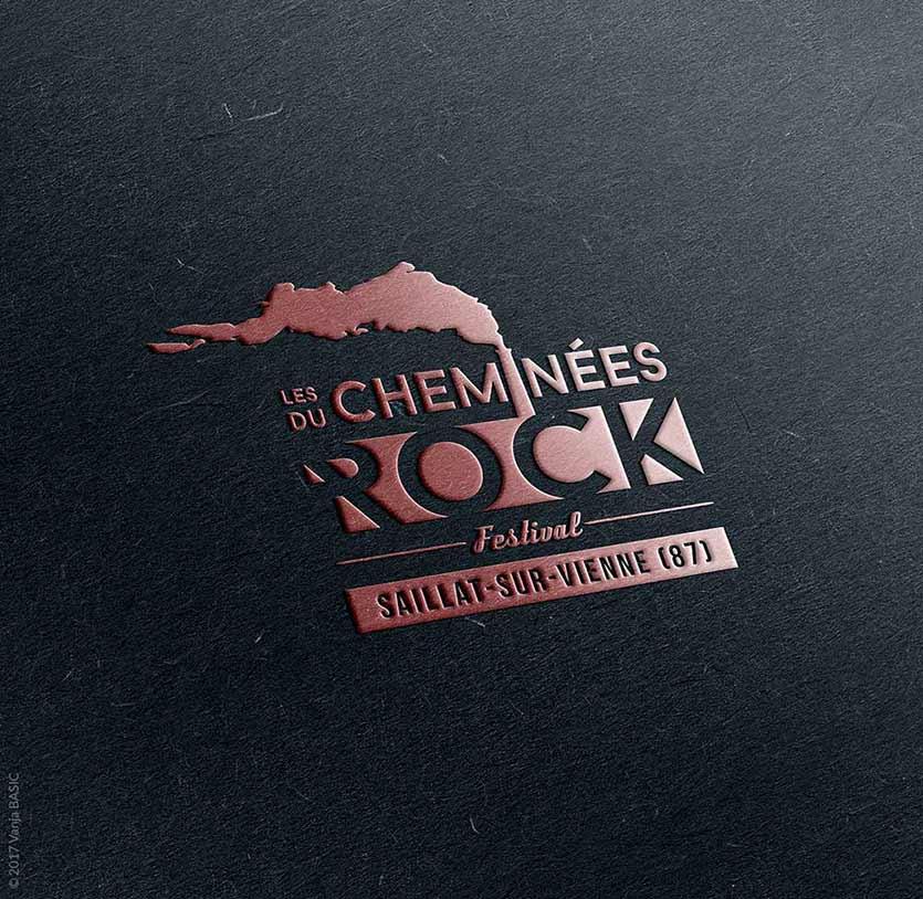 Logo pour le festival de musique Les Cheminees du Rock