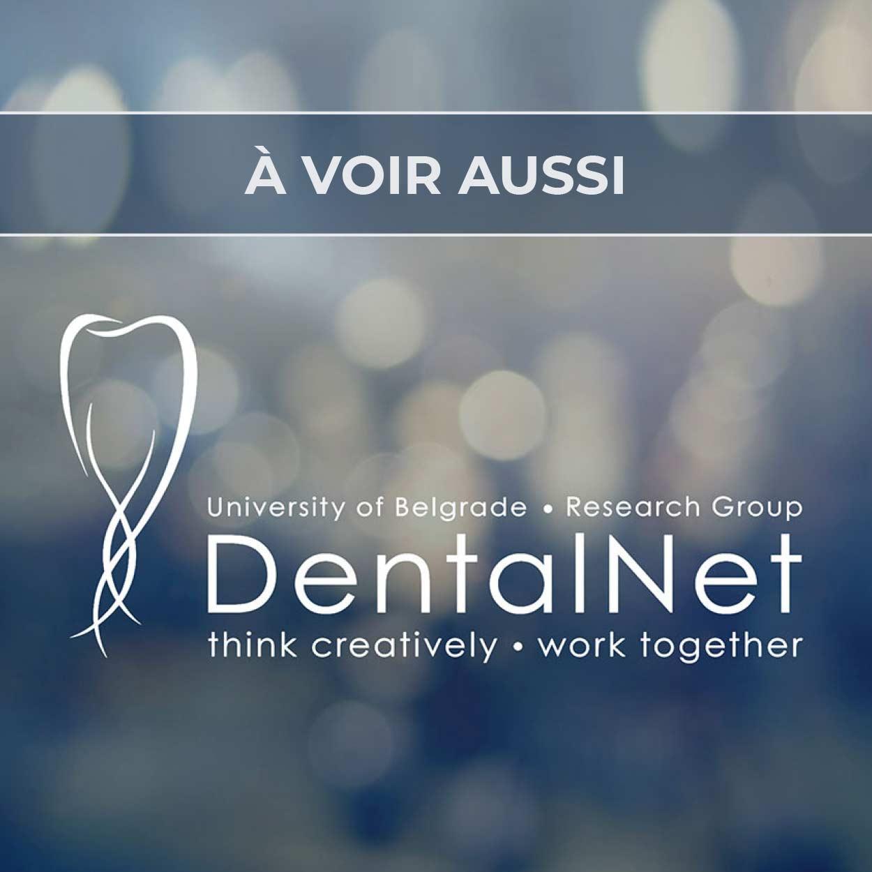 Renvoi au projet de logo pour le groupe de recherche médicale DentalNet à Belgrade