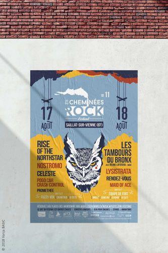Communication globale pour le festival Les Cheminées du Rock