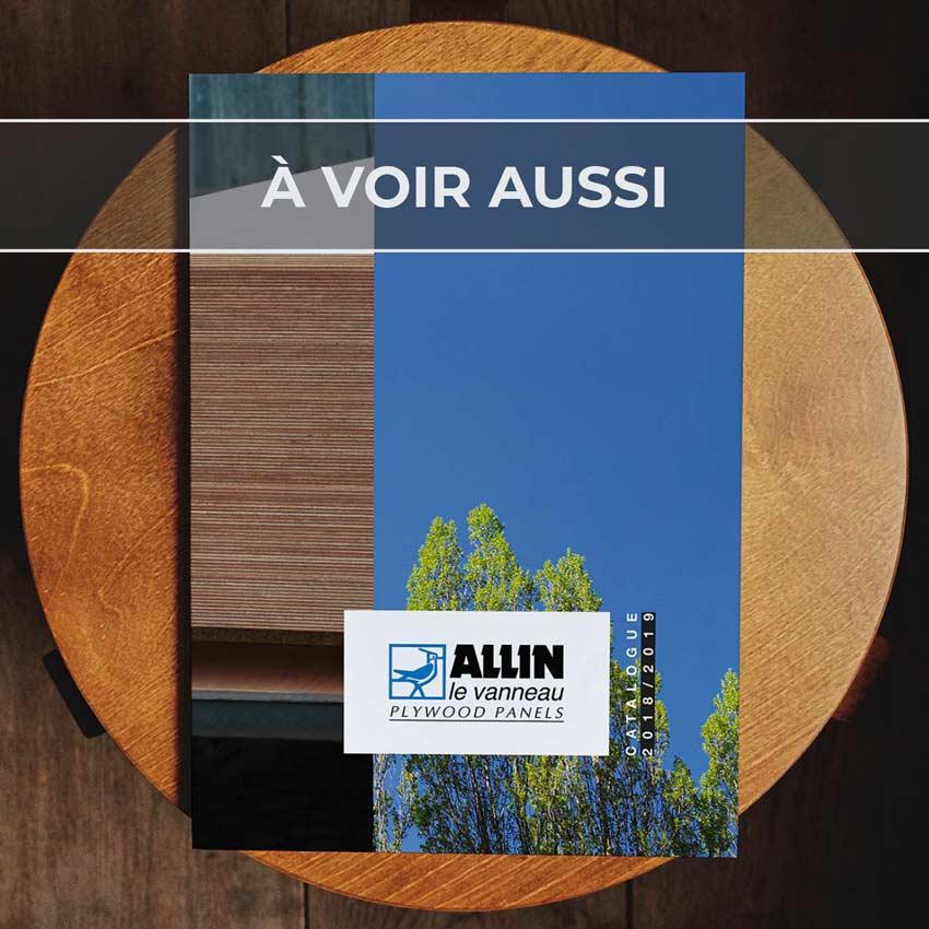 Renvoi au projet de catalogue pour Allin, fabricant de panneaux contreplaqués en okoumé et peuplier