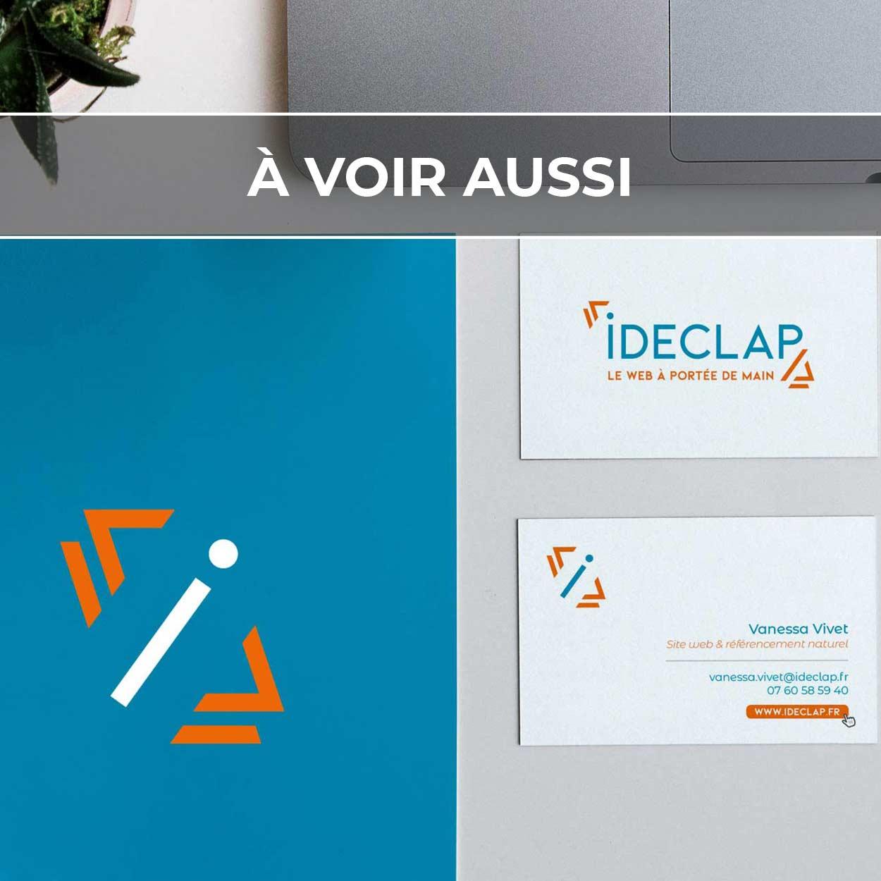 Renvoi au projet d'identité visuelle pour Ideclap, expert du web
