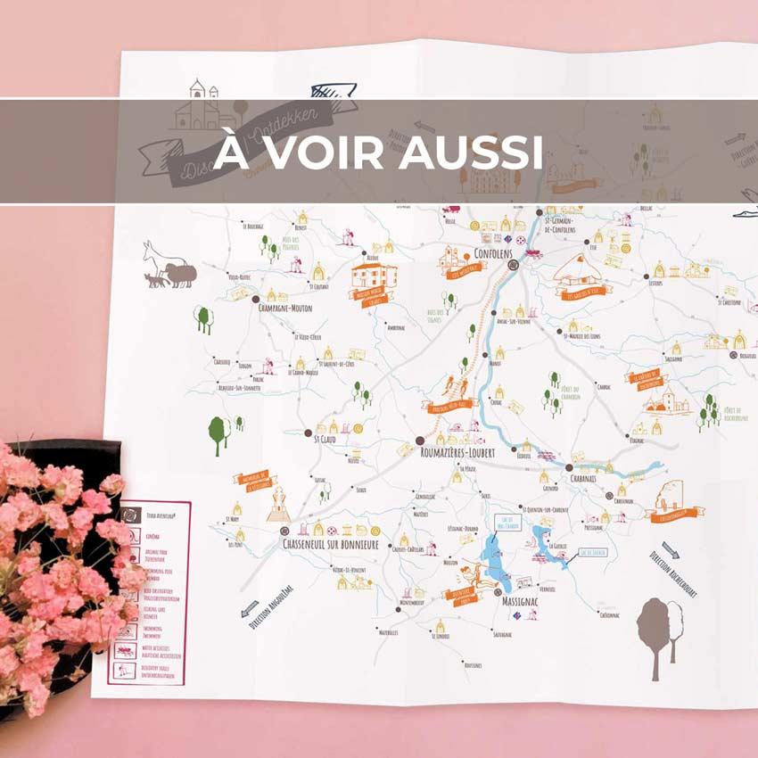 Renvoi au projet d'illustrations pour les cartes touristiques de la Communauté de Communes de Charente Limousine