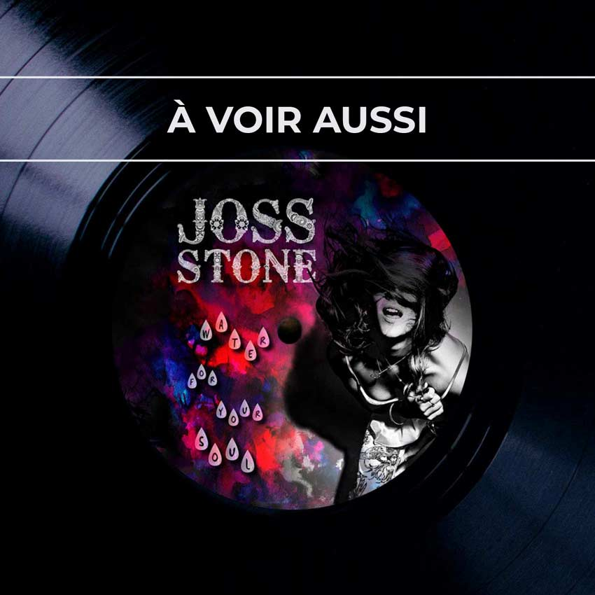Renvoi au projet de pochette pour l'album «Water for your soul» de Joss Stone, artiste anglaise de musique soul