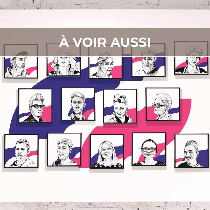 Renvoi au projet de portraits d'équipe pour La Nef, salle de spectacles dédiée aux musiques actuelles