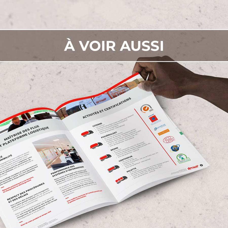 Renvoi au projet de brochure commerciale pour Veynat, leader français en transport de liquides alimentaires