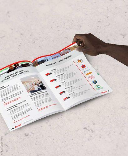 Brochure commerciale pour les transports Veynat
