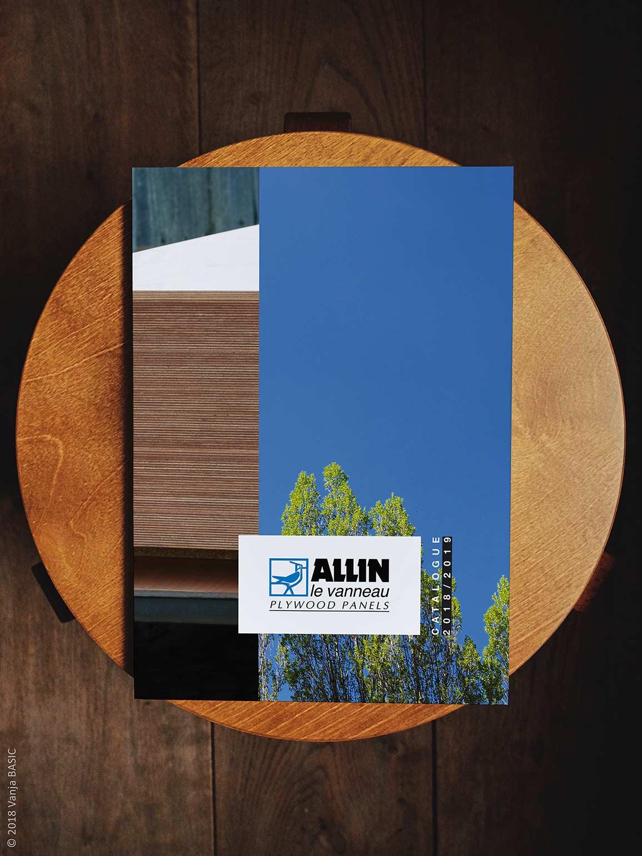Catalogue pour Allin, fabricant de panneaux contreplaqués en okoumé et peuplier