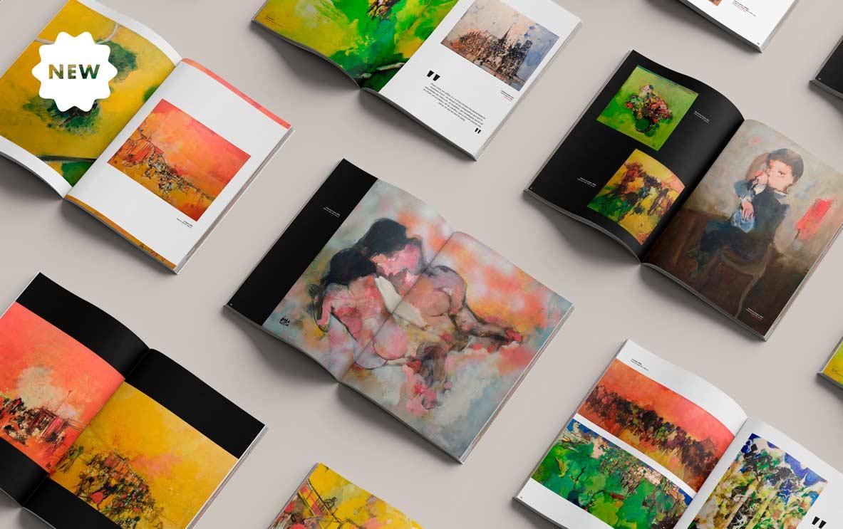 Catalogue pour l'exposition de P. Cara Costea, par Vanja BASIC, graphiste et illustratrice à Bordeaux