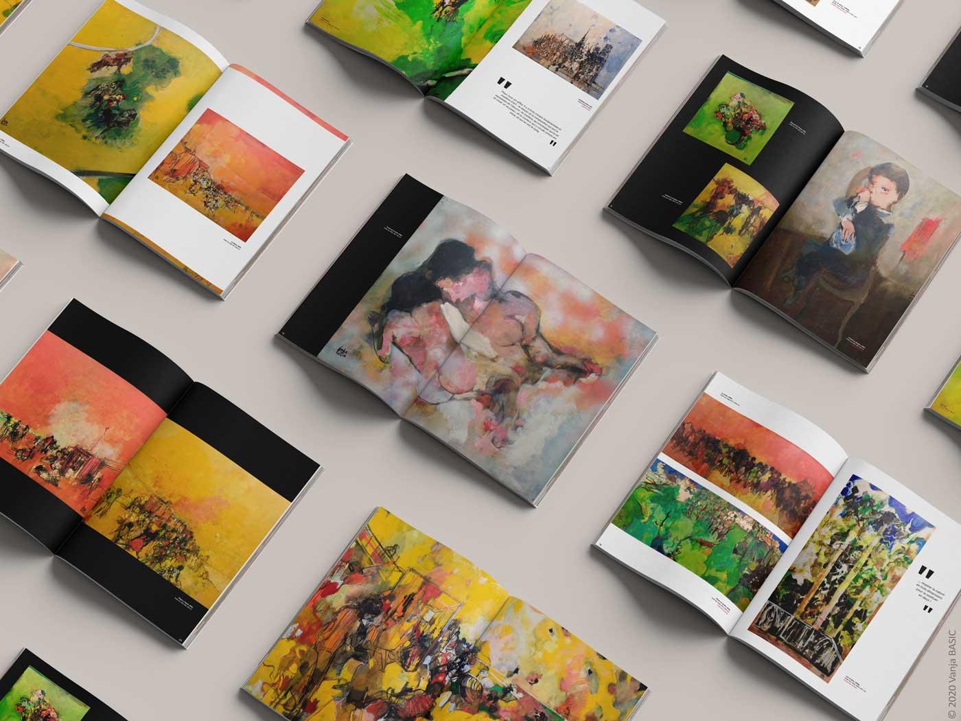 Intérieur du catalogue pour l'exposition de P. Cara Costea, organisée par le Fonds Labegorre. Communication artistique, Vanja Basic.