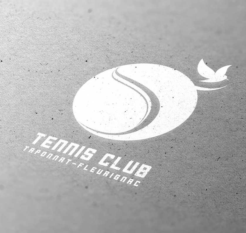 Logo pour le Tennis Club Taponnat-Fleurignac, par Vanja BASIC, graphiste et illustratrice à Bordeaux