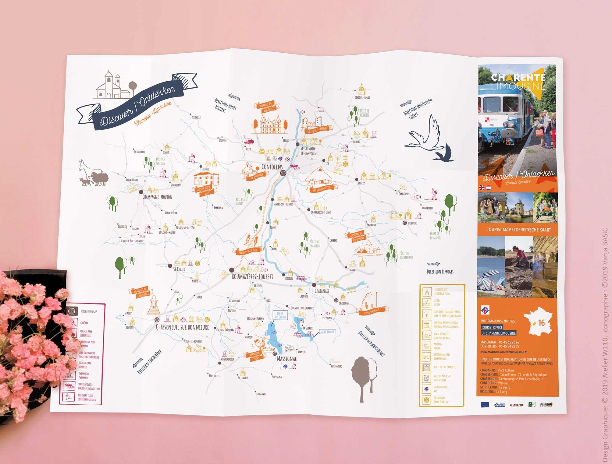 Cartes touristiques de la Communauté de Communes de Charente Limousine