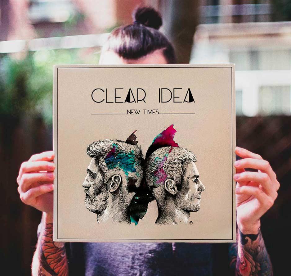 Pochette d'album «New Times» et logo pour Clear Idea, par Vanja BASIC, graphiste et illustratrice à Bordeaux