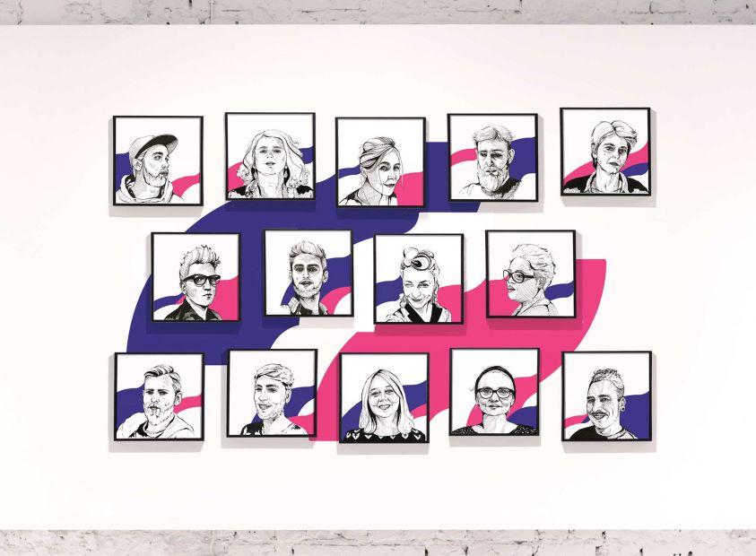 Portraits d'équipe pour La Nef, salle de spectacles dédiée à la musique